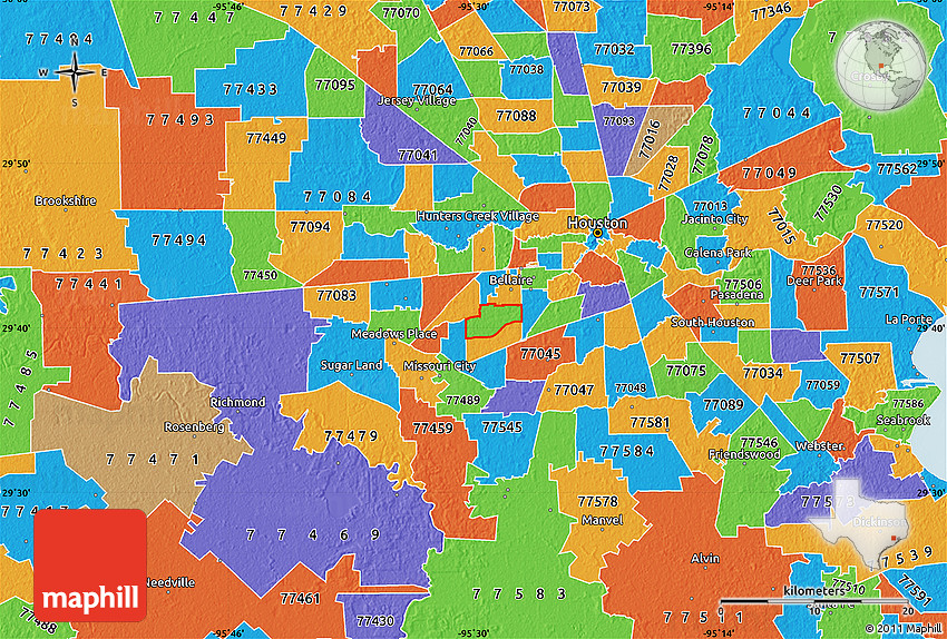 Harris County Zip Code Map Political Map of ZIP Code 77096