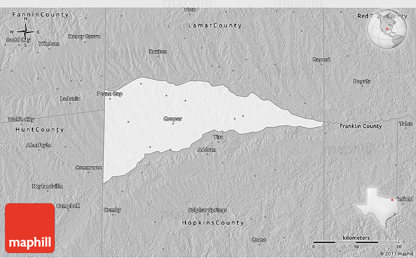 Gray 3D Map of Delta County
