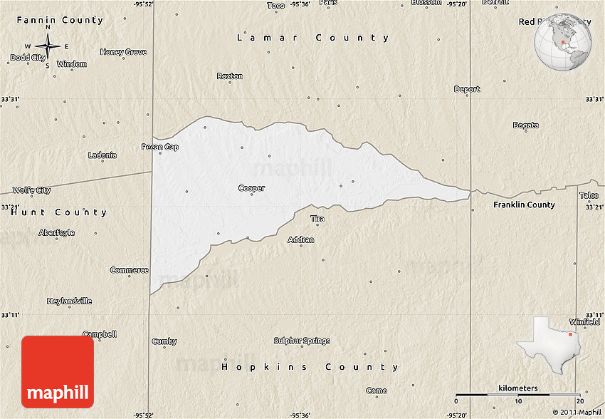 Classic Style Map of Delta County