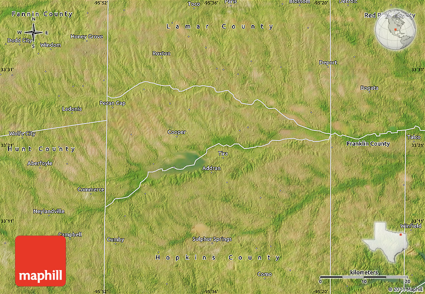 Satellite Map of Delta County