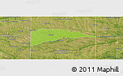Physical Panoramic Map of Delta County