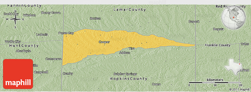 Savanna Style Panoramic Map of Delta County
