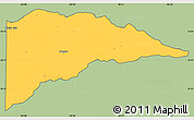 Savanna Style Simple Map of Delta County