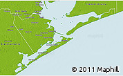Physical 3D Map of Galveston County