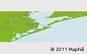 Physical Panoramic Map of Galveston County