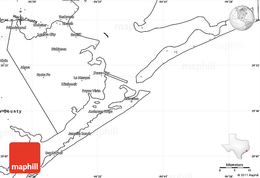 Blank Simple Map of Galveston County on blank map of fredericksburg, blank map of dallas, blank map of atlanta, blank map of texas, blank map of charleston, blank map of cozumel, blank map of jacksonville, blank map of virginia beach, blank map of new orleans,