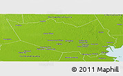 Physical Panoramic Map of Harris County