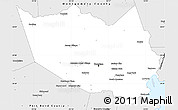 Silver Style Simple Map of Harris County
