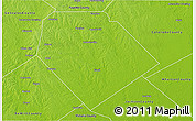 Physical 3D Map of Lavaca County