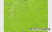 Physical Map of Lavaca County