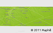 Physical Panoramic Map of Lavaca County