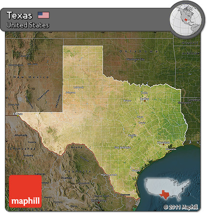 Free Map Of Texas.Free Satellite Map Of Texas Darken