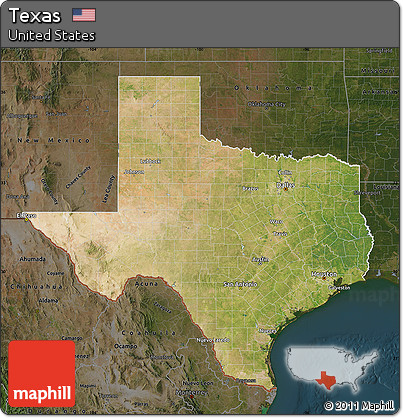 Free Satellite Map Of Texas Darken - Satellite map of texas