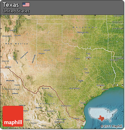 Free Satellite Map Of Texas - Satellite map of texas