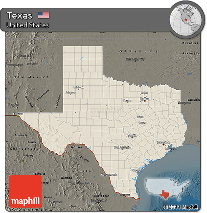 Relief Map Of Texas.Free Shaded Relief Map Of Texas Darken