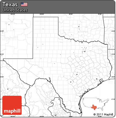 Free Blank Simple Map Of Texas No Labels