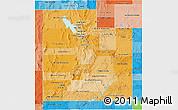 Political Shades 3D Map of Utah