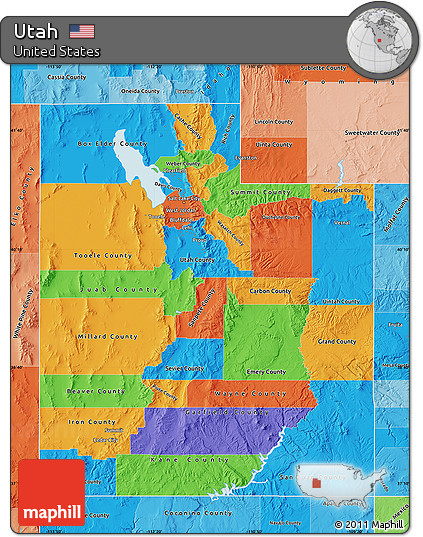 Free Political Map Of Utah Political Shades Outside