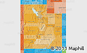 Political Shades Map of Utah