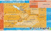 Political Shades Panoramic Map of Utah