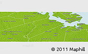 Physical Panoramic Map of Isle of Wight County