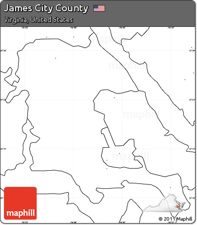 Free Blank Simple Map Of James City County No Labels - Us map no labels