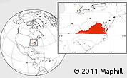 Blank Location Map of Virginia