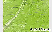 Physical Map of Loudoun County