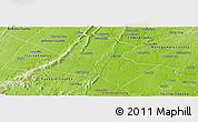 Physical Panoramic Map of Loudoun County