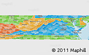 Political Shades Panoramic Map of Virginia