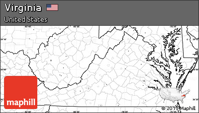 Free Blank Simple Map Of Virginia No Labels