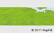 Physical Panoramic Map of Suffolk City