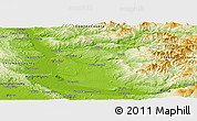 Physical Panoramic Map of Clark County