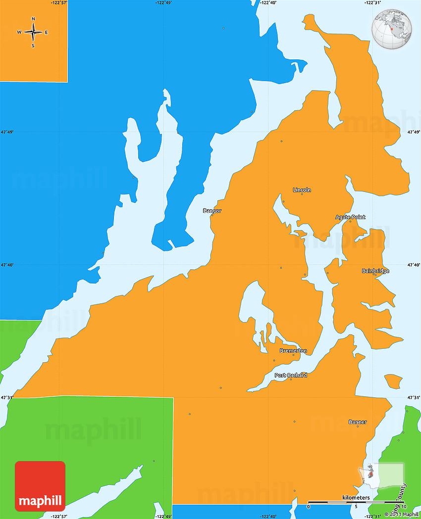 Political Simple Map of Kitsap County on kitsap peninsula, kitsap community resources, seattle map, port orchard, pierce county, port orchard map, thurston county, franklin county, bremerton ferry map, whatcom county, silverdale map, mason county, pierce county map, green mountain wa trail map, thurston county map, skagit county, pasco county map, port of bremerton map, jefferson county, kittitas county, tacoma map, lincoln county map, wsu extension map, kitsap bangor, clark county map, chelan county, johnson county map, grays harbor county, snohomish county, clark county, spokane county, san juan county, skagit county map, king county, jefferson county map, washington county map,