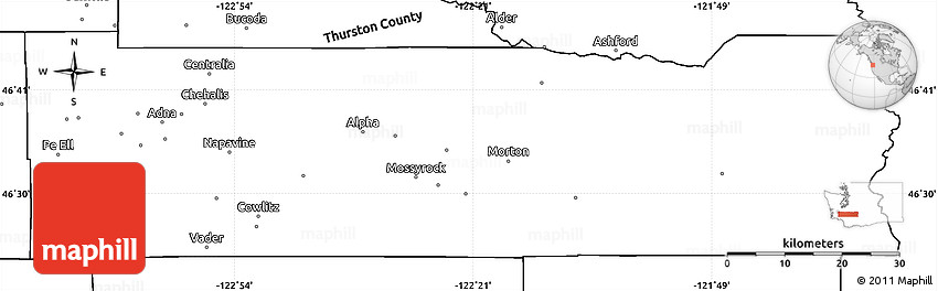 Lewis County Washington Map.Blank Simple Map Of Lewis County