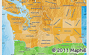 Political Shades Map of Washington