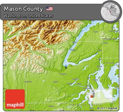 Free Physical Map Of Mason County