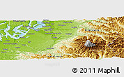 Physical Panoramic Map of Pierce County