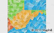 Political Shades Map of West Virginia