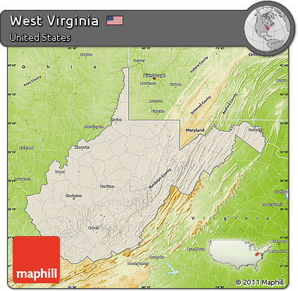 Relief Map Of Virginia.Free Shaded Relief Map Of West Virginia Physical Outside