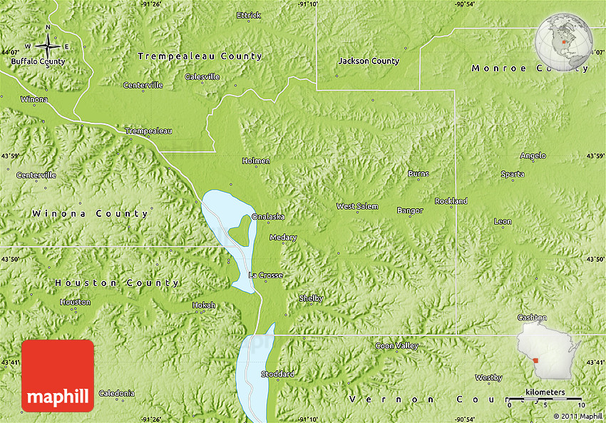 Geography Of La Crosse County Wisconsin
