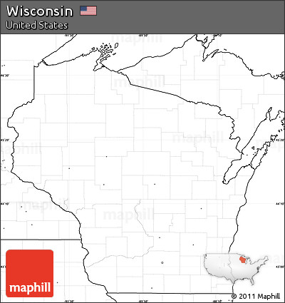 Free Blank Simple Map Of Wisconsin No Labels - Us map no labels
