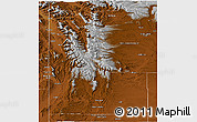 Physical Panoramic Map of Lincoln County