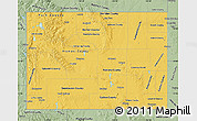 Savanna Style Map of Wyoming