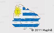 Flag 3D Map of Uruguay