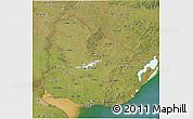 Satellite 3D Map of Uruguay