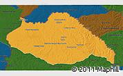 Political 3D Map of ARTIGAS, darken
