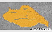 Political 3D Map of ARTIGAS, desaturated