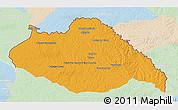 Political 3D Map of ARTIGAS, lighten