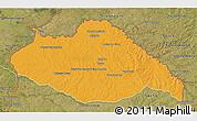 Political 3D Map of ARTIGAS, satellite outside